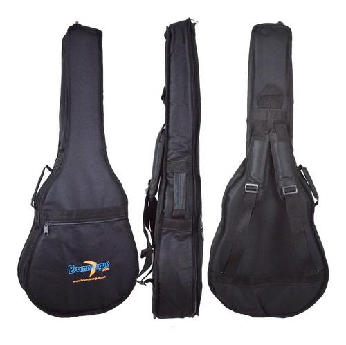 kit violão elétrico folk aço hmf250 stnt hofma bag e correia