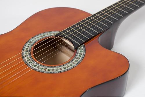 kit violão elétrico giannini flat sf14 nt natural aço