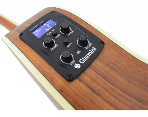 kit violão eletroacústico flat gnf-3 ceq ns satin giannini