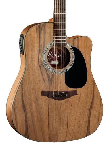 kit violão eletroacústico hofma aço hmf270 stnt fosco