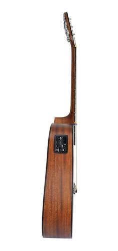 kit violão eletroacústico hofma hmf 250 folk aço fosco satin