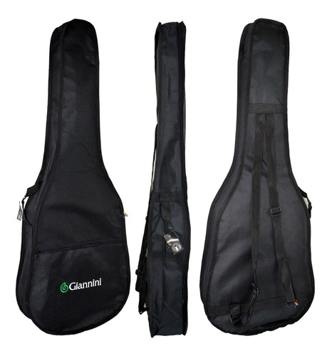 kit violão estudo acústico nylon preto n14 start giannini