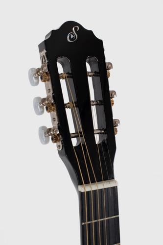 kit violão flat elétrico sf14 bk aço giannini completo