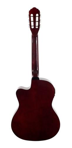 kit violão flat  elétrico sf14 natural aço c/capa giannini