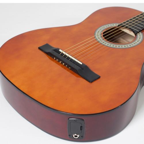 kit violão giannini flat elétrico sf14 natural aço capa bag