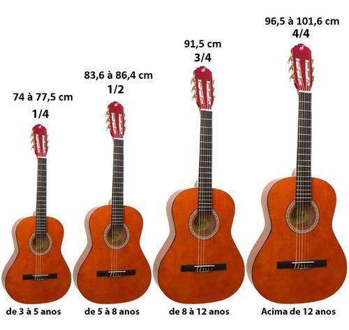 kit violão infantil acústico nylon 3/4 n6 start nat giannini