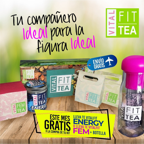 kit vitalfit tea + obsequio
