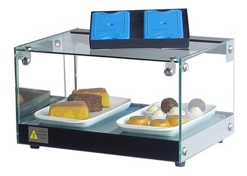 kit : vitrine fria + estufa quente  47cm - omega-  com led