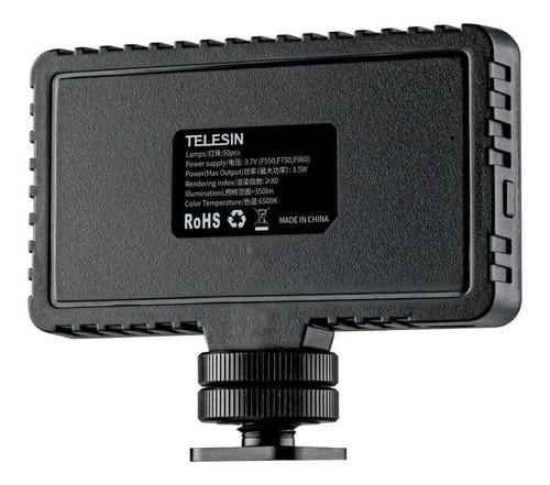 kit vlog gopro hero 7 6 5 black - frame + led + microfone