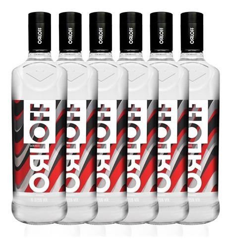 kit vodka orloff 1l - 6 unidades