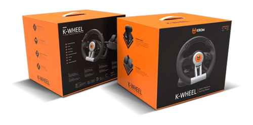kit volante y pedales k-wheel krom ps4 xbox one pc proglobal