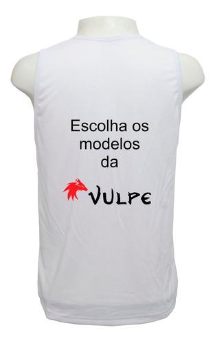 kit vulpe 3 camisetas regatas estampa total frete grátis