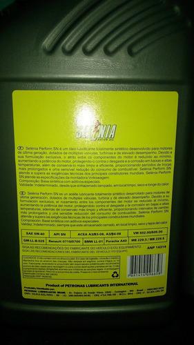 kit vw  filtro mahle + 4 lts de óleo 5w40 api sn sintético