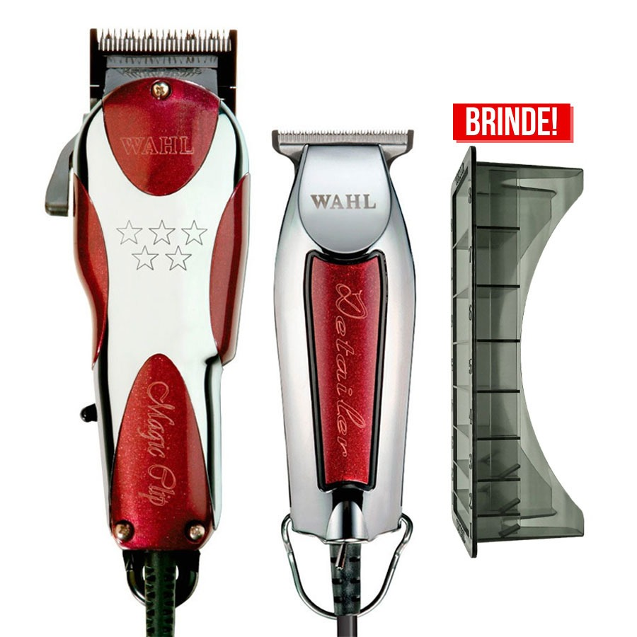 2ff893c8a Kit Wahl Maquina Magic Clip + Detailer T Wide 110v + Brinde - R$ 894 ...
