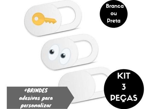 kit webcam tampa câmera adesivo privacidade espião 3un