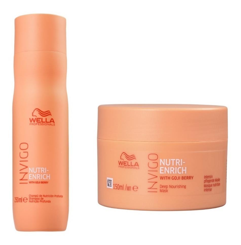 b5e19485f16 kit wella invigo nutri enrich shampoo 250ml + máscara 150ml. Carregando  zoom.