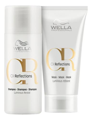 kit wella pro oil reflections mini mask (2 produtos)