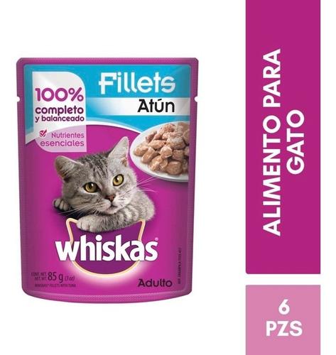 kit whiskas alimento gato adulto trozos filetes atun 85g