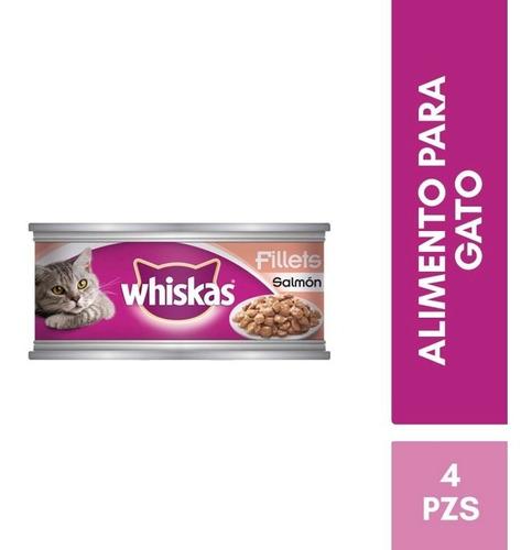 kit whiskas alimento humedo en latas salmon gato adulto 156g