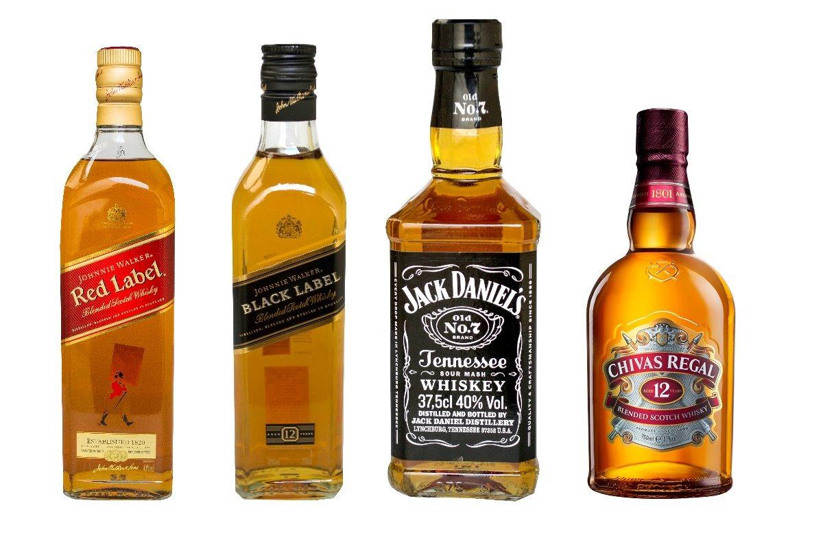 Kit Whiskey +red Label + Black Label+ Jack Daniel´s+ Chivas