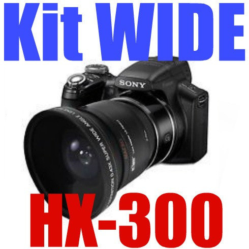 kit wide sony hx300 ( tubo + lente grande angular + macro )