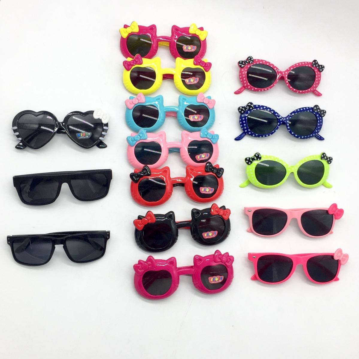 a6c28107d kit x 10 óculos de sol revenda criança unissex atacado uv. Carregando zoom.