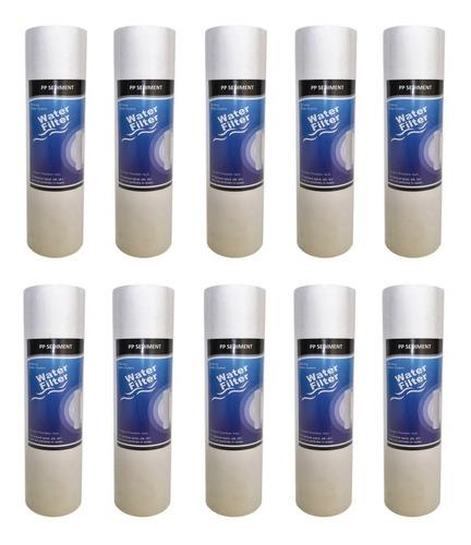 kit x 10 pp polipropileno 5 micras sedimentos filtro agua