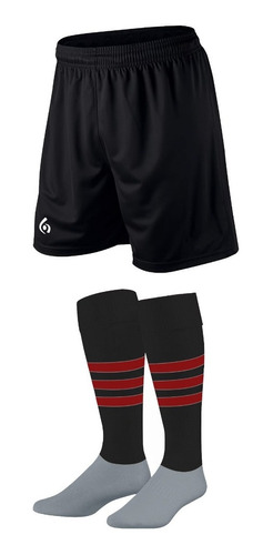 kit x 10: shorts + medias stripes gol de oro pro elite