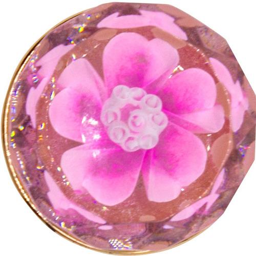 kit x 12 puxadores gaveta flor estilo europeu acrilico 30mm
