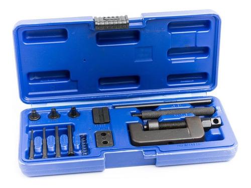 kit x 13 piezas corta cadena moto y remachadora bremen 6675