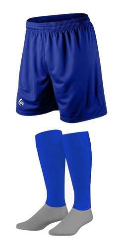 kit x 16: shorts + medias stripes gol de oro pro elite