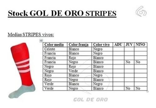 kit x 18: shorts + medias stripes gol de oro pro elite