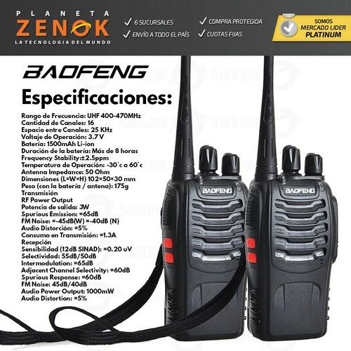 kit x 2 handy baofeng bf-888s uhf vox manos libres 16 c