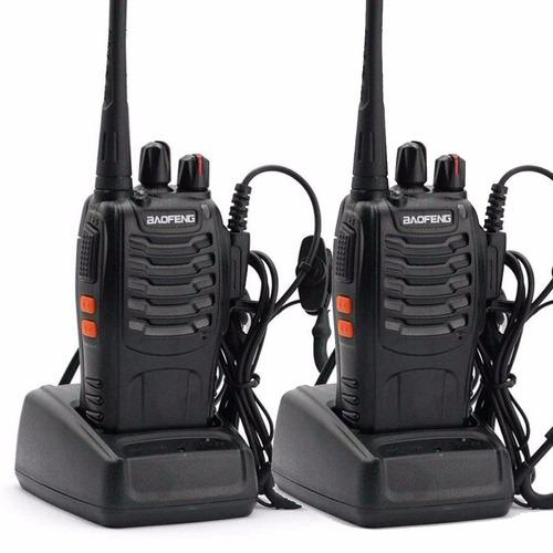 kit x 2 handy baofeng radio walkie talkie bf888s - 16ch uhf