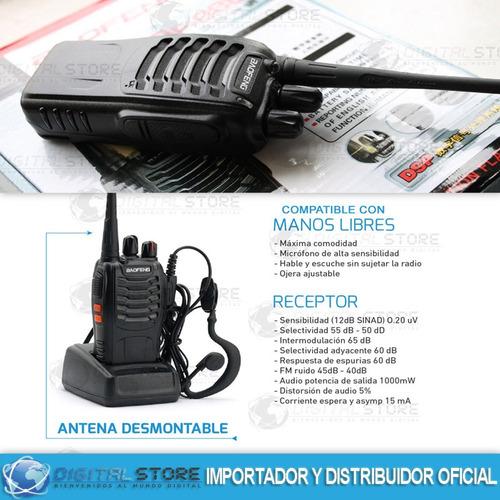 kit x 2 handy baofeng radio walkie talkie bf888s 16ch uhf