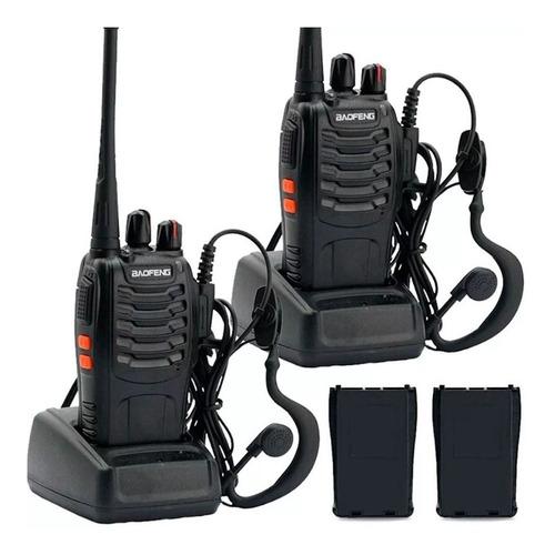 kit x 2 handy walkie talkie baofeng bf-888s 16ch uhf handie