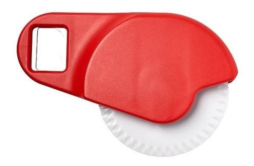 kit x 3 corta pizza plástico y destapador de botellas