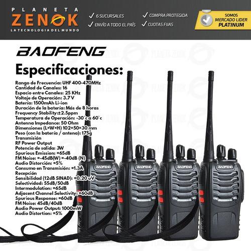 kit x 4 handy baofeng bf-888s uhf vox manos libres 16 c