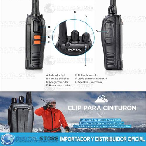 kit x 4 handy baofeng radio walkie talkie bf888s - 16ch uhf