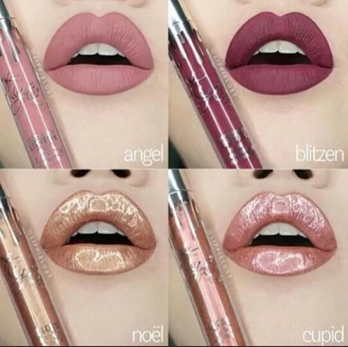 kit x 4 labiales kylie (holiday edition)