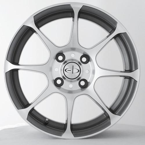 kit x 4 llantas eb 13  tr gris/vison diam. 4/100