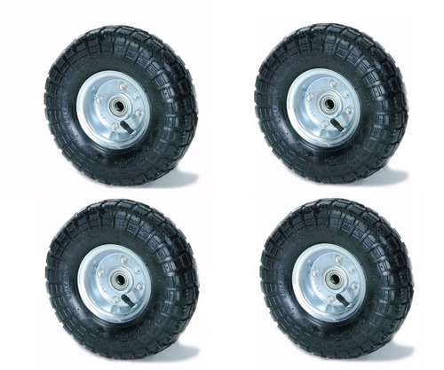 kit x 4 rueda neumatica inflable para carro zorra zona norte