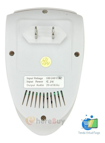 kit x 5 repelente electronico ultrasonico plagas e insectos