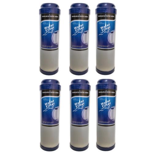 kit x 6 gac repuesto carbón granular 10 pulg filtro de agua