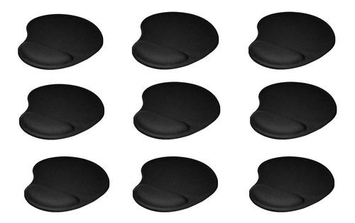 kit x 9 pad mouse ergonómico apoya muñeca mo-303 negro