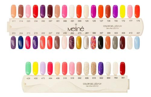 kit x10 esmaltes meliné gel color manicuria semipermanente