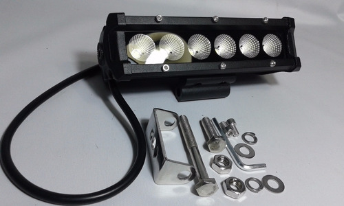 kit x2 barras 6 cree leds 36w12v autos 4x4 off road 18x8x5cm