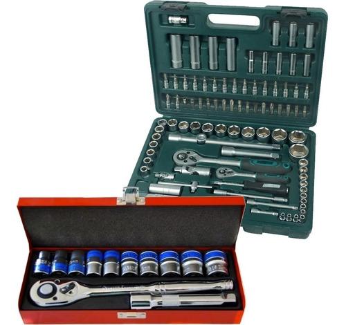 kit x2 caja de dados juego herramientas 94 piezas+ 12 pieza