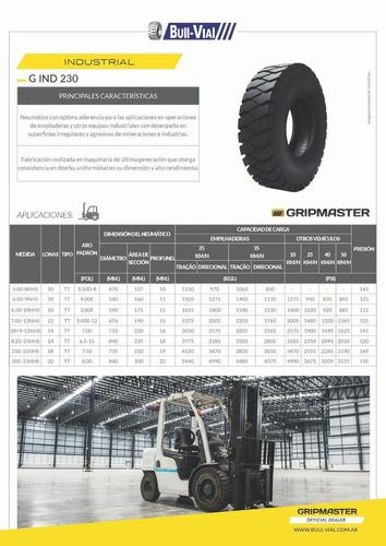 kit x2 cubierta autoelevador gripmaster g-ind 6.00-9 10pr tt