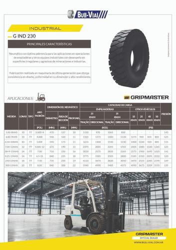 kit x2 cubierta autoelevador gripmaster g-ind 7.00-12 12pr t